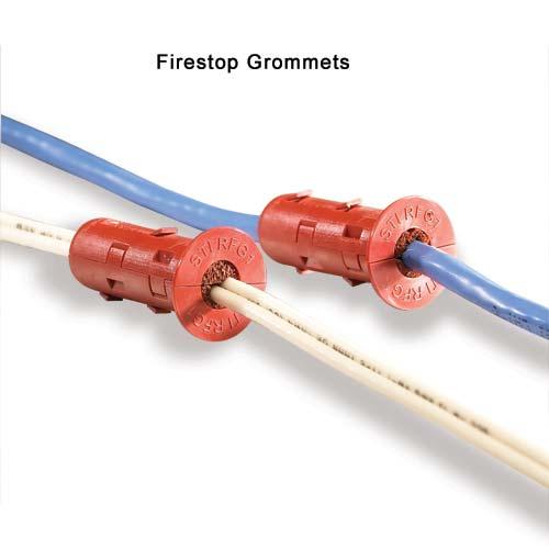 Oeillet coupe feu pour câbles